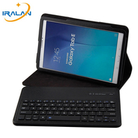 New Wireless Bluetooth Keyboard Case For Samsung Galaxy Tab E 9.6 inch T560 T561 Leather Stand Clamshell Tablet Flip Cover+Film
