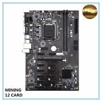 New Mining Motherboard B250 BTC Mainboard LGA1151 CPU DDR4 Memory 12 Card USB3.0 Expansion Adapter Desktop Motherboard