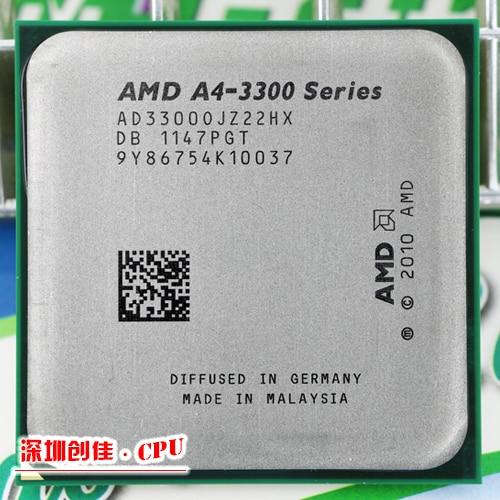 AMD A4 3300 2.5 GHz 1 MB 65 W CPU processeur FM1 gratuite livraison scrattered pièces A4-3300 APU
