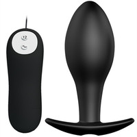 12 Speed Vibrating Silicone Anal Pleasure Bead Butt Plug Anus Stimulator In Adult Games , Erotic Sex Toys For Women And Men