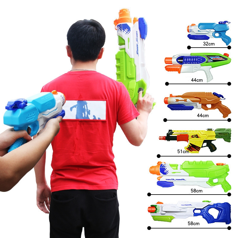 12 Styles Child Beach Big Water Gun Toys Sports Game Shooting Pistol High Pressure Soaker Pump Action Outdoor Toy For Kids Adult