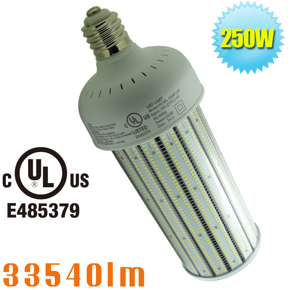 1000 watt metal halide bt56 replacement led 250w corn light bulb large mogul e39 base warehouse. Black Bedroom Furniture Sets. Home Design Ideas