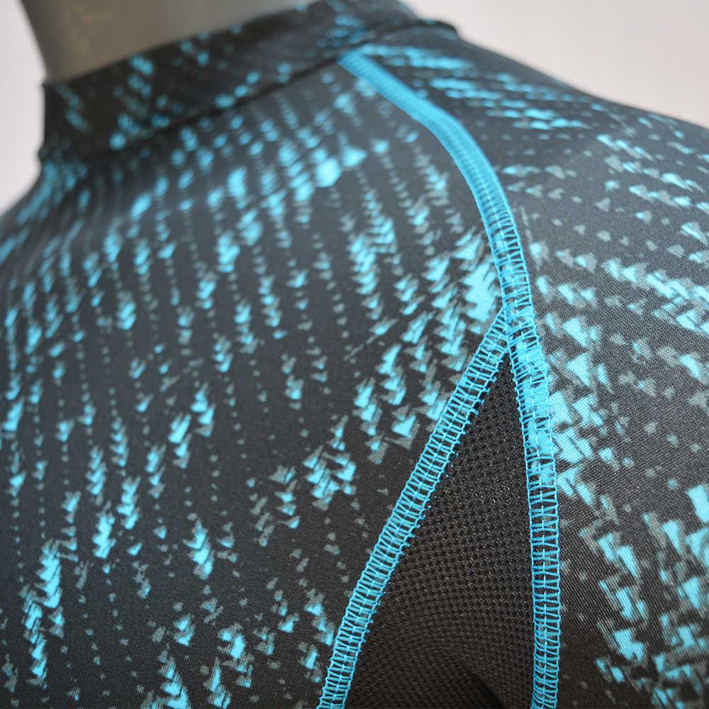 ארוך שרוול מודפס גברים לגלוש פריחה משמר באיכות גבוהה יבש-Fit גלישה שומרי פריחה בגדי ים אנטי Uv למעלה UPF 50 שחייה חולצה 2019