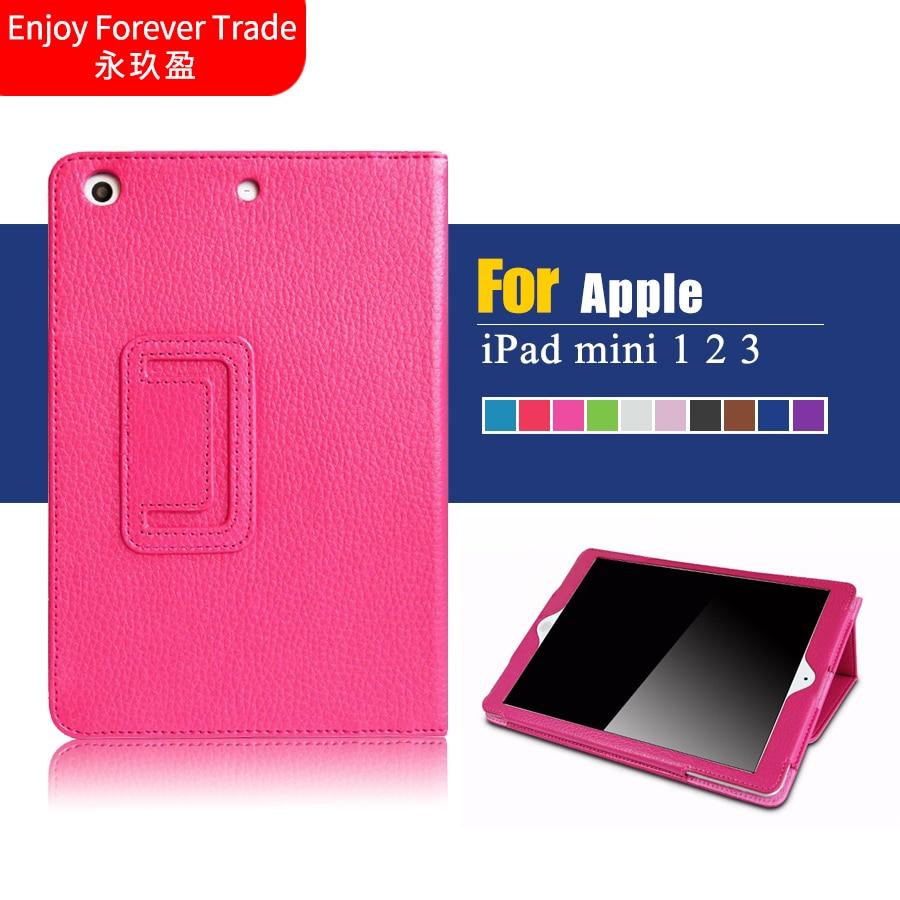 For Apple iPad mini 1 2 3 Retro PU Leather Case Retina Smart Stand Magnetic Sleep Wake UP Pouch Cover For ipad mini1 mini2 mini3  цены