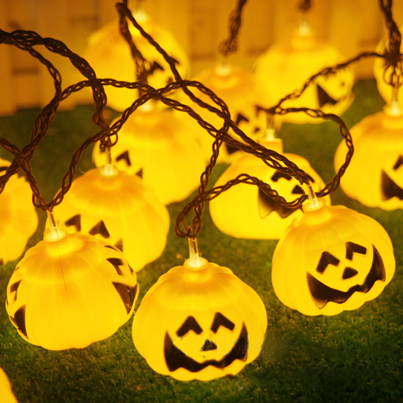 Dimmable Pumpkin Lanterns Halloween Christmas Tree Ghost Festival Supplies LED Small Lantern Battery Lights Glowing Decoration