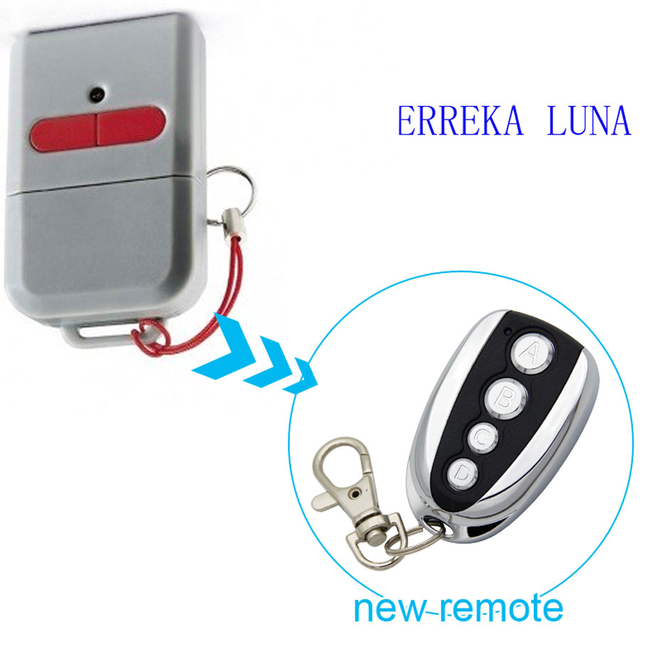 ERREKA LUNA Garage Door/Gate Remote Control Replacement/Duplicator 433mhz the ivory white european super suction wall mounted gate unique smoke door