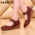 women soft out sole wedges mother work office nurse  shoes marry jean low heel shoes