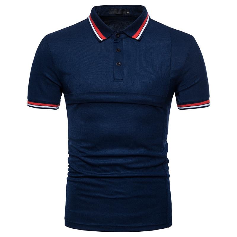 Νέο 2018 αρσενικό λεπτό πουκάμισο πόλο - Ανδρικός ρουχισμός - Φωτογραφία 4