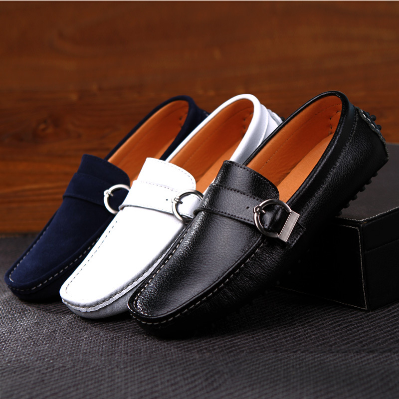 fd9453c8d9 Fashion Genuine Leather Mens Loafer Shoes 2015 Spring Summer Casual Loafers  Driving Shoes for Man Formal Slip On Flats Mocassin-in Women s Flats from  Shoes ...