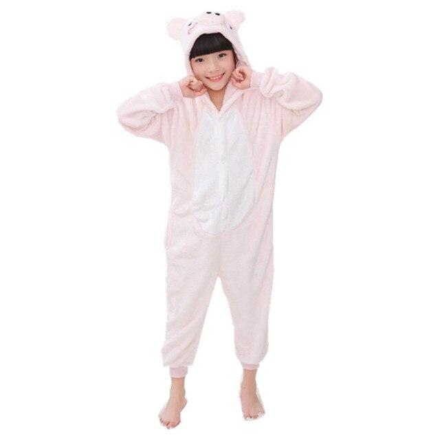d25ae5411bfc21 Cartoon zwierząt różowy świnia Onesies dla dzieci Onesie piżamy kombinezon  bluzy bielizna nocna dla dzieci