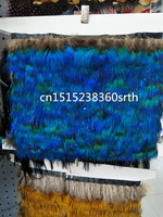 Wholesale 100 yards Quality natural Peacock feathers ribbon 2 3inch/5 7cm Decorative diy stage performance Clothing accessories