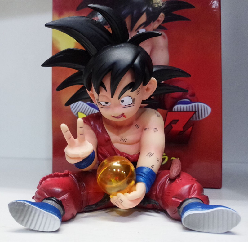 Anime Dragon Ball Kakarotto Son Goku child Doll <font><b>Dragonball</b></font> Super Saiyan PVC Action <font><b>Figure</b></font> Toys DBZ <font><b>Dragonball</b></font> Z GK Model Toys image