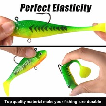 KastKing Brand 2017 New 3D Lure Deep Water 6pc/lot Fishing Soft Lures Artificial Bait Fishing Tool Sea,Lake,River
