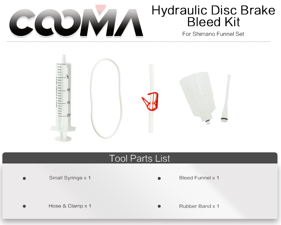 Coomas Hydraulic Brake Bleed Kit For Shimano Brake System Mineral