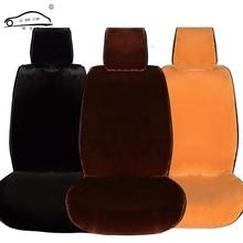 Cojín de felpa corto para asiento de coche, almohadilla de asiento de felpa para invierno, cálido, para asiento de coche, Cloac