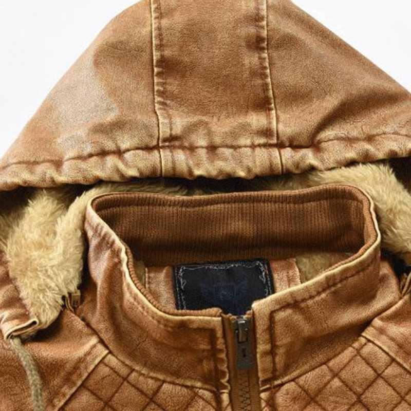 冬暖かいプラスサイズブラックゴシックメンズジャケットカジュアル秋スリム PU スタンド襟ジッパー無地コートストリート服オーバーコート