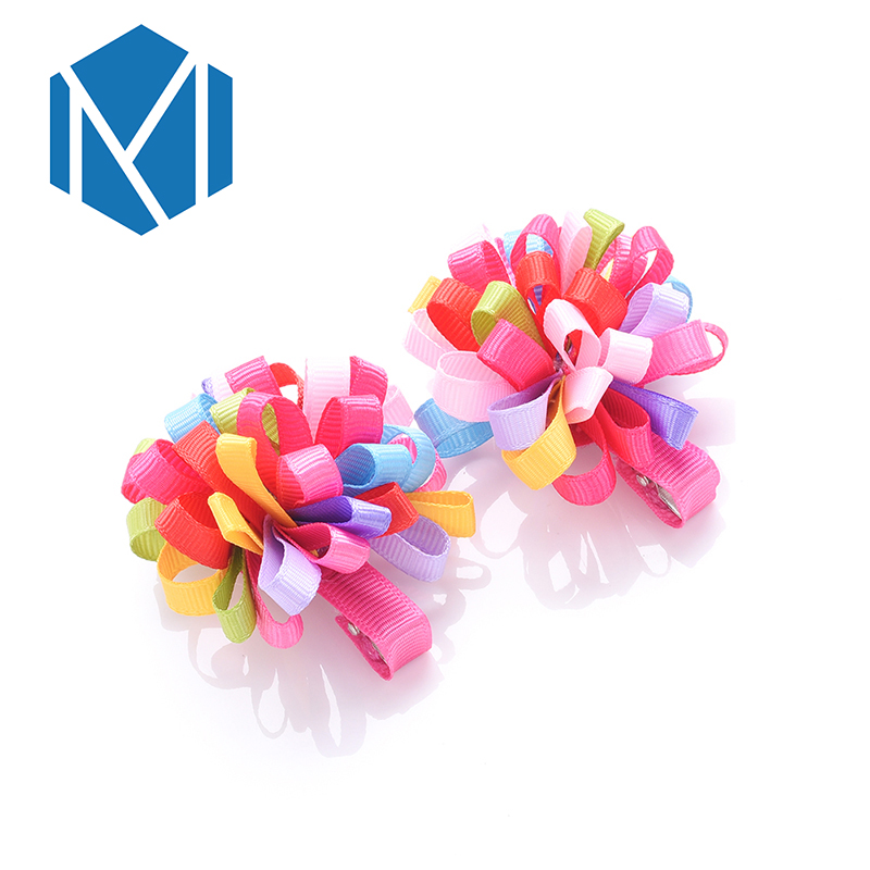 2018 1Lot=2Pcs Hair Accessories Girls Hair Clips Children Hairpin Baby Rubber Bands Kids Cute Elastic Hair Bands Lovely Headwear magic elacstic hair bands big rose decor elastic hairbands hair clips headwear barrette bowknot for women girls accessories