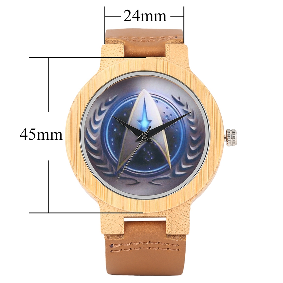 Casual Wooden Watch Fashion Movie Theme Star Trek Bamboo Clock Men Genuine Leather Band Sport Boys Minimalism saat erkekler 2017 watches (14)