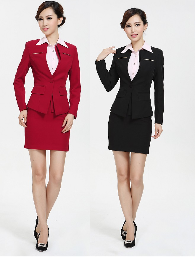 plus size 4xl uniform design office work wear 2015 autumn winter