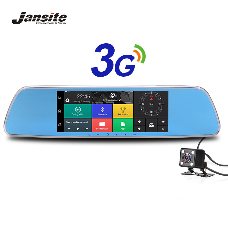 Jansite 3G Car Dvrs 7 Touch Screen Android 5.0 Car Camera GPS Navigators FHD 1080P Video Recorder Mirror Dvr WIFI Dash Cam bigbigroad for nissan qashqai car wifi dvr driving video recorder novatek 96655 car black box g sensor dash cam night vision