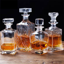 Luxury Lead Free Glass Wine Bottle Whiskey Decanter Alcohol Container Pourer Wine Carafe Crystal Glass Home Bar Red Wine Bottle