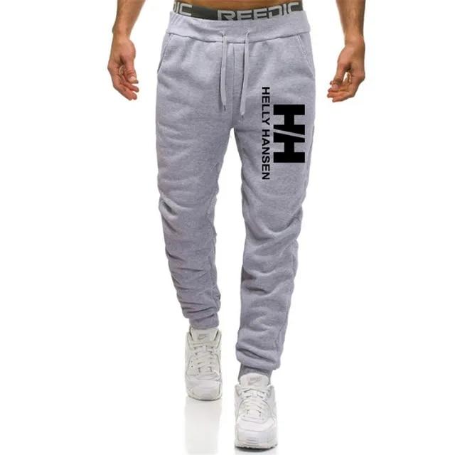 2019 New Men Joggers Brand Male Trousers Casual Pants Sweatpants Jogger Helly Hansen Elastic Cotton GYM Fitness Workout Dar XXXL