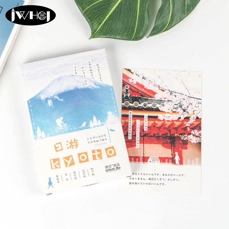 30 pcs Japan travel kyoto 100 Postcard paper card Valentines Day New Year Greeting Card Birthday Gift Message cards