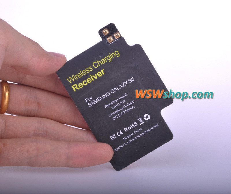 Wireless Charger Receiver For Samsung Galaxy S5 Qi With