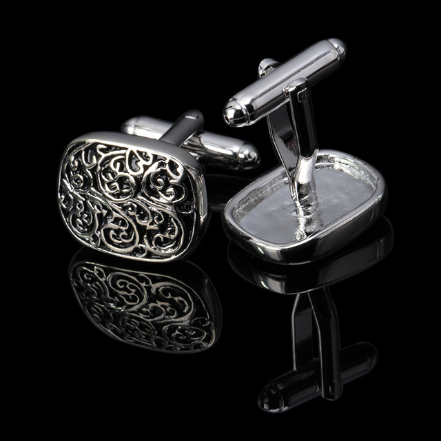 High Quality Retro Vintage Wave Pattern Cufflinks