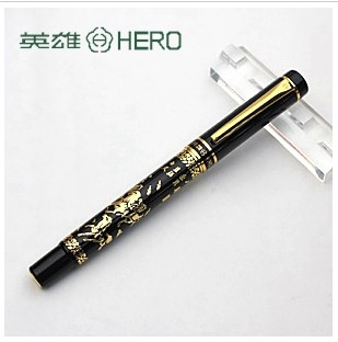Hero 9063 eight horses art pen calligraphy pen fountain pen calligraphy fountain pen  FREE shipping italic nib art fountain pen arabic calligraphy black pen line width 1 1mm to 3 0mm