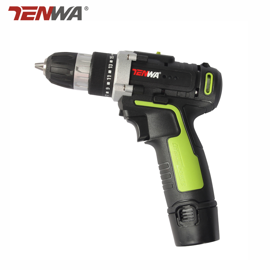 Tenwa 12V Cordless Drill Household DIY Lithium-Ion Battery Cordless Drill/Driver Power Drill Tool Electric screwdriver Woodwork 12v cordless electric drill household mobile power supply lithium ion battery screwdriver cordless electric drill power tools