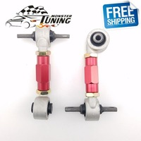 Free Shipping High Quality Racing Rear Adjustable Camber Arm Kit 10mm Hole For Honda Civic EK/EG Red
