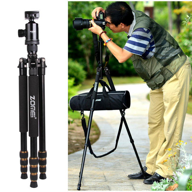 Professional Zomei Z688 Aluminum Tripod Monopod + Ball Head For DSLR camera Portable / SLR Camera stand / updated by Q666 tripod