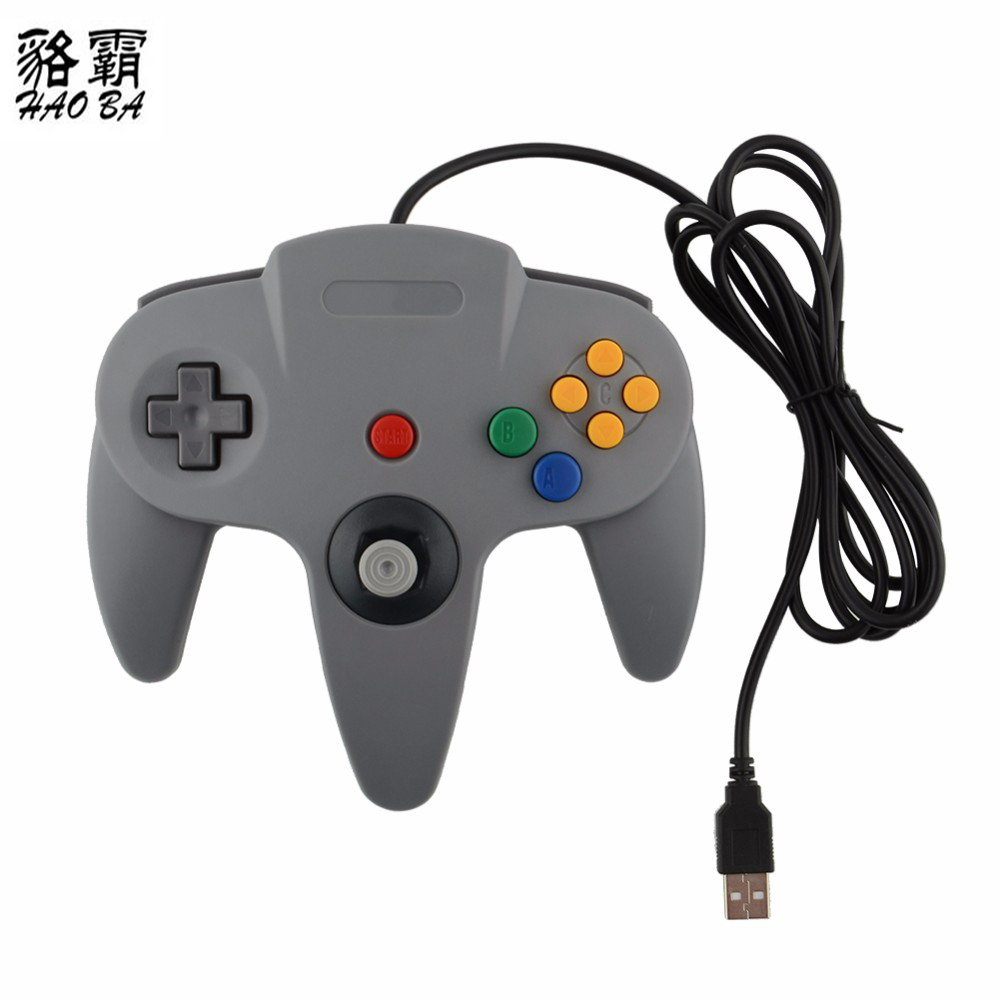 HAOBA Filaire USB Joystick Controller Gamepad Pour Gamecube N64 Controller with wired USB Pour Mac Noir Gamepad wired usb controller for nintend n64 joystick games wired gamepad joypad for gamecube controle for n64 pc for mac black gamepad