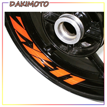 for KAWASAKI ZX-11 ZX11 Seven Colors 8X Custom Inner Rim Decals Wheel Reflective Stickers Stripes