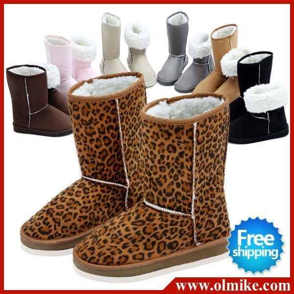 New arrival fashion winter boots warm flat heels solid snow boots women's boots 7 colors wholesale drop ship WSH046