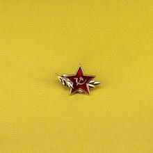 Hummer e foice soviética estrela vermelha pin broche símbolo do comunismo soldados emblemas URSS 70's vintage jóias homens presente patriota