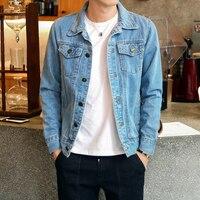 Men Jean Jackets Dark Blue Black Clothing Denim Jacket Fashion Man Jeans Jacket Thin Spring Outwear Male Cowboy Plus Size tll041