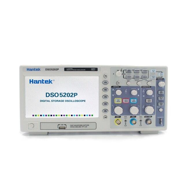 Hantek DSO5202P Digital Oscilloscope Portable 2 Channels 200MHz Osciloscopio LCD PC USB Handheld Oscilloscopes Multimetro