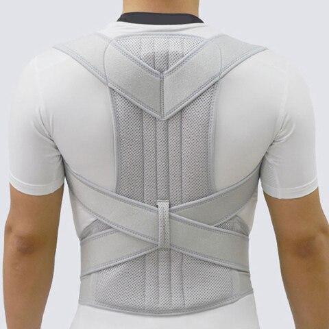 nova prata ajustavel cinta parte superior do ombro para tras cinto coluna evitar homens ombro
