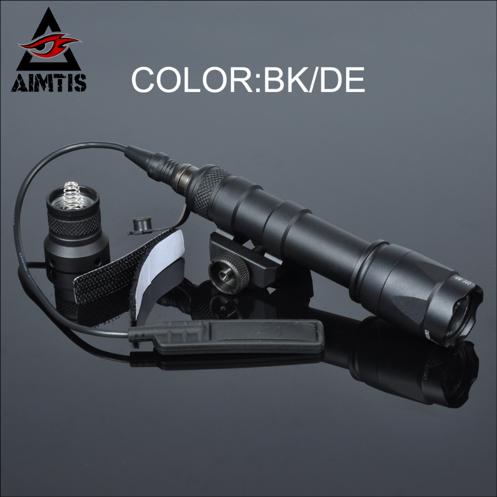 AIMTIS M600C Tactical Scout Light Rifle Weapon Flashlight LED Hunting Spotlight Constant and Momentary Output with Tail Switch greenbase tactical m300 m300b mini scout light outdoor rifle hunting flashlight 400 lumen weapon light led lanterna