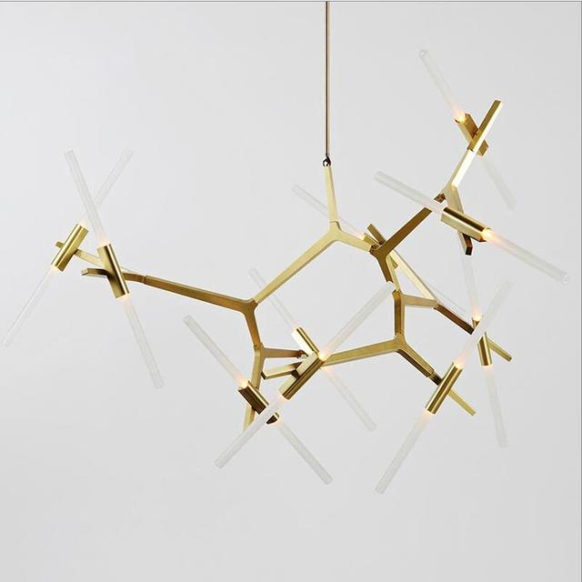Agnes 20 LED Gold Chandelier by Lindsey Adelman for Roll Hill