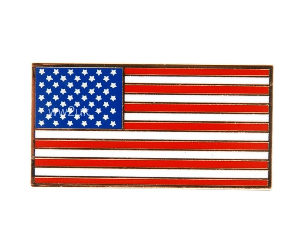 US MILITARY UNITED STATES FLAG METAL PIN BADGE-35205