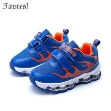 2017  Children's Sports Shoes Boy Springs Support Bottom Shoes Girls Running Shoes Big Boy Anti-slip Children's Net Shoes