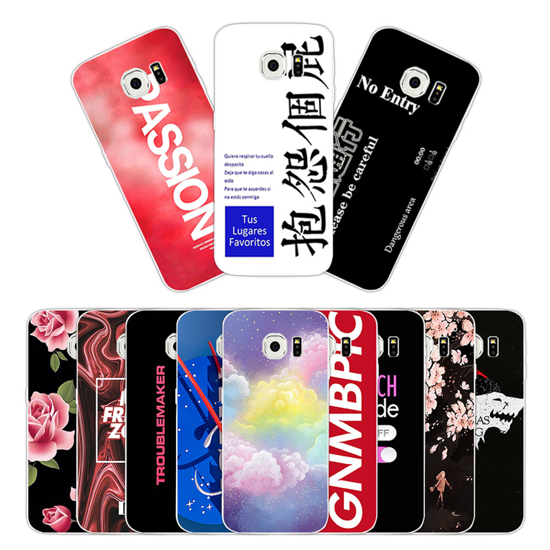 For Samsung Galaxy S6 Edge Transparent TPU Luxury Silicone ...
