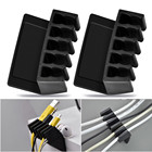 5 Slots flexible Universal Office Wire Cable Clips Desktop Cord Divider Cable Organizer USB Cable Holder
