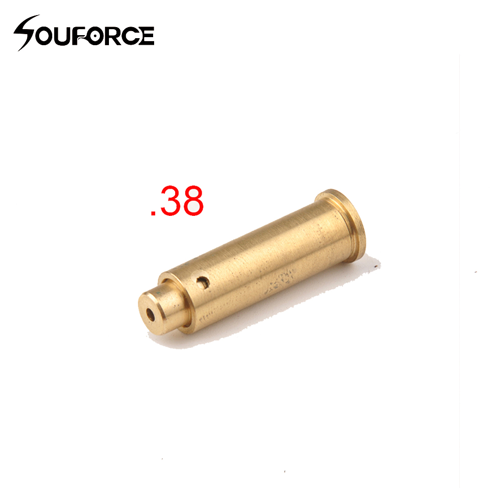Eua. 38 vermelho cobre furo laser vista bronze cartucho bore sighter com baterias para a caça