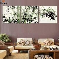Fashion großen leinwand kunst billig moderne abstrakte bambus leinwand wandkunst landschaft ölgemälde bilder für wohnzimmer NoFrame