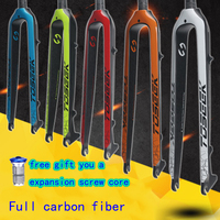 2019 Bicycle Fork 26/27.5/ 29 inch Full carbon fiber Fork Bicycle Fork free gift a expansion screw core Bicycle Parts