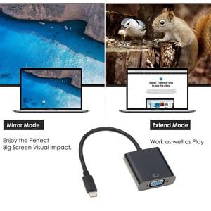 Image 5 - Kebidu Adaptador de Cable tipo C a hembra, VGA USBC, USB 3,1 a VGA, para Macbook de 12 pulgadas, Chromebook Pixel, Lumia 950XL, gran oferta